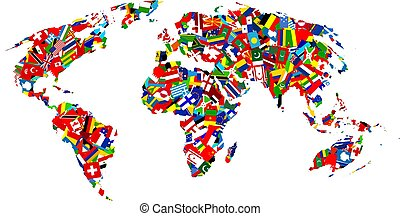 carte, drapeau