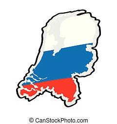carte, drapeau, pays-bas, sien