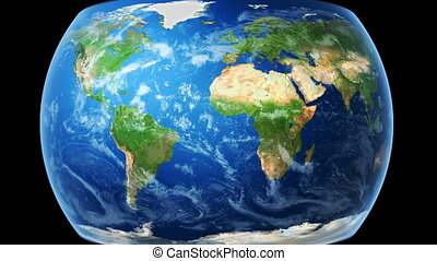 carte, emballages, bg), globe, (black, mondiale