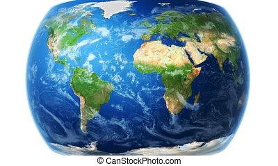 carte, emballages, bg), globe, (white, mondiale