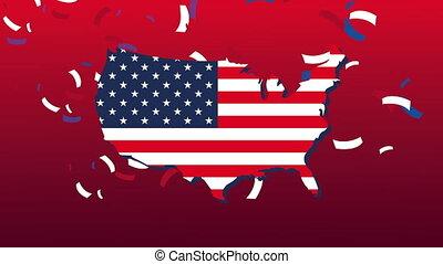 carte, etats, uni, amérique, drapeau