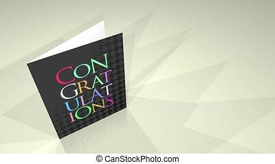 carte, félicitations, salutations, hd