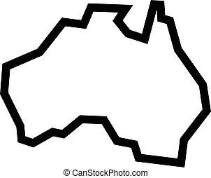 carte, forme, australie, géographie