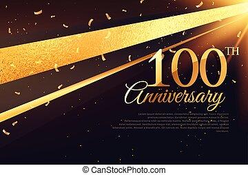 carte, gabarit, 100th, célébration anniversaire
