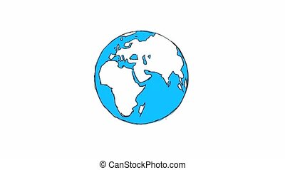 carte, gens, immigration, arrière-plan animation, mondiale