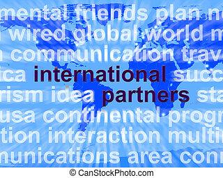 carte, gestion réseau, partenaires, global, globalisation, mots, international, spectacles