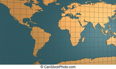 carte, globe, porcelaine, terre tournant