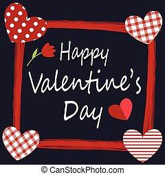 carte, heureux, valentine, conception, jour, salutation