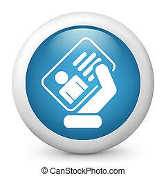 carte identité, icône