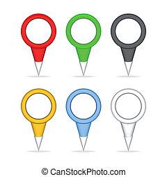 carte, indicateurs, coloré
