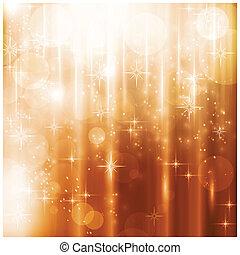 carte, lumières, étoiles, étincelant, noël