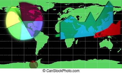 carte, mondiale, apparaître, diagrammes