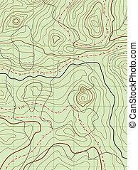 carte, non, résumé, vecteur, noms, topographique