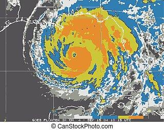 carte, ouragan