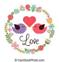 carte postale, amour