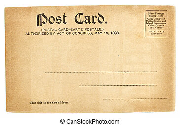 carte postale, etats, uni, vieux, salutation