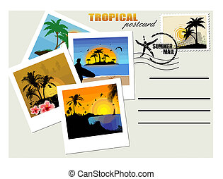 carte postale, exotique