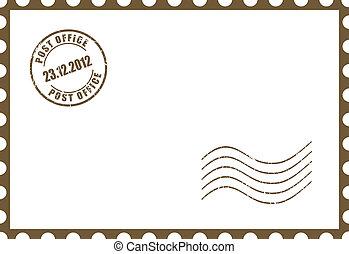 carte postale, vecteur, vide