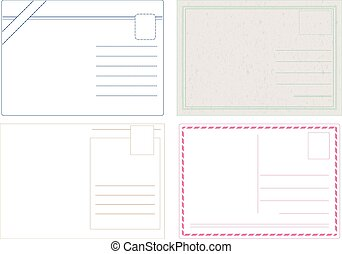 carte postale, vectors