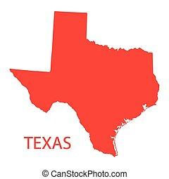 carte, rouges, texas