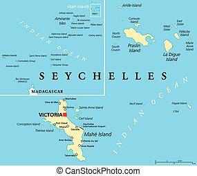 carte, seychelles, politique