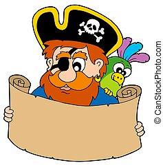 carte, trésor, lecture, pirate