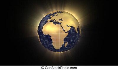 carte, unfolds, usa, globe, zooms, rotation