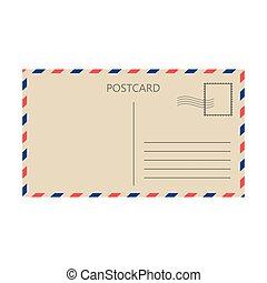 carte, vecteur, fond blanc, isolé, postal