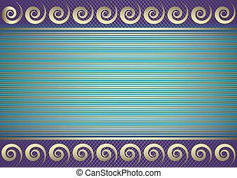 carte, (vector), bleu, endroit, texte, rayé