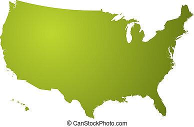 carte, vert, nous