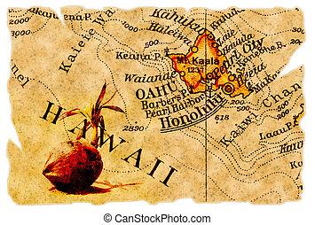 carte, vieux, honolulu