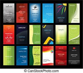 cartes, ensemble, business, verical