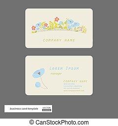 cartes., fleur, business
