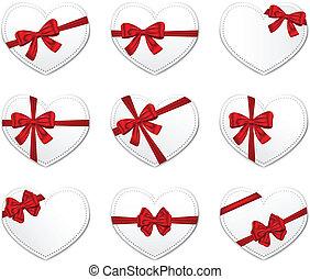 cartes, jour, cadeau, valentine
