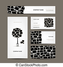 cartes, photo, business, conception, cadres