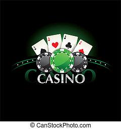cartes, poker, fragment casino, élément