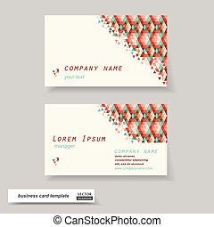cartes, set., vecteur, illustration., business