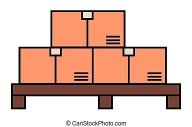 carton, boîtes, produit, achats, livrer