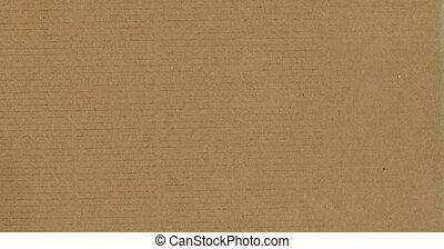 carton, brun