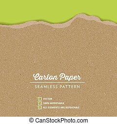carton, texture, vecteur, papier
