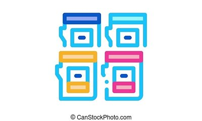 cartouches, couleur, animation, icône