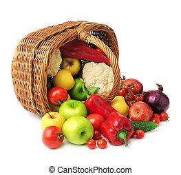 case légume, fruit
