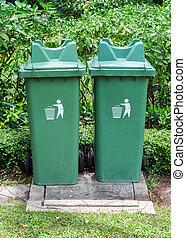 casier, jumeau, vert