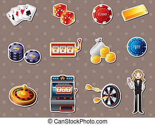 casino, autocollants