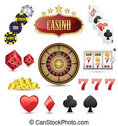 casino, icônes