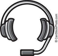 casque à écouteurs, téléopérateur
