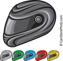 casque, motocyclette, illustration