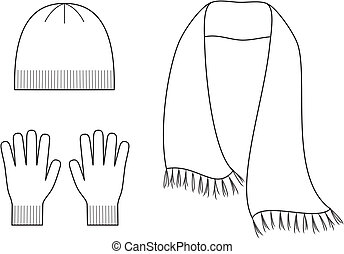 casquette, écharpe, gants