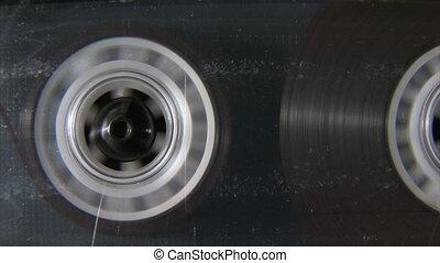 cassette, audio, bobine, jouer