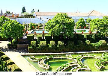 castelo, jardin, branco, portugal